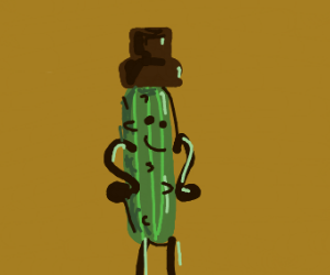 Cucumber hat