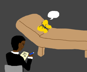 yellow butterfly in a therapy session