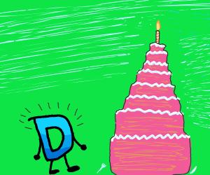 Drawception and a tall birthday cake