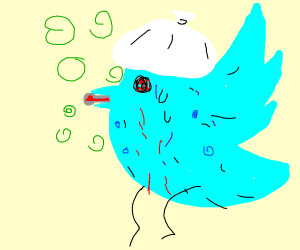 Twitter bird with a series of diseases