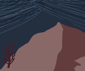 desert landscape at night