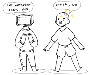 a computer with a body is smarter than baldy