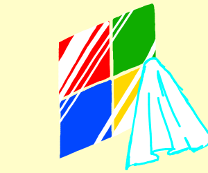 Cleaning Windows logo