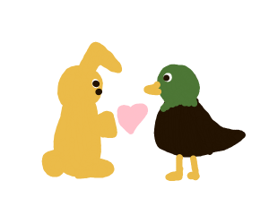 Bunny and duck are dating