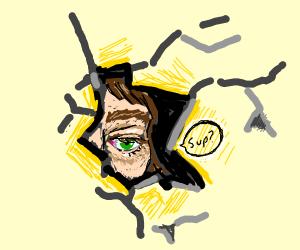 A hole through the eye