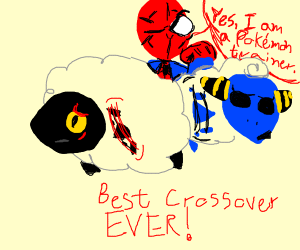 Wooloo, Mareep and Spider-Man