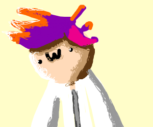 Purple-haired OwO guy in a lab coat