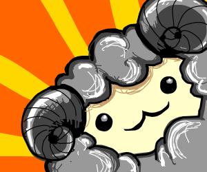 a very cute ram