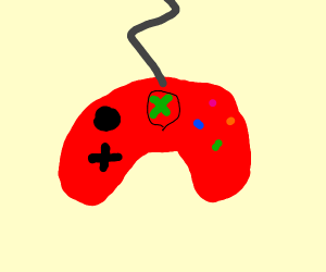 Red game controller