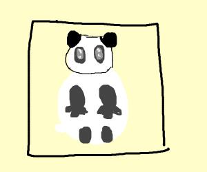 Kermit and giddy bear watching a panda