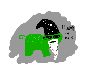 Gandalf frog