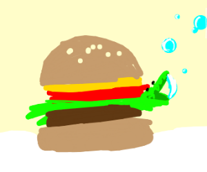 burger king foot lettuce blowing bubbles