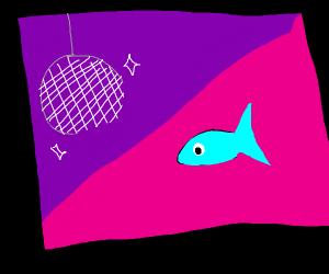 fish staring quizzically at a disco ball