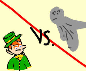 Leprechaun vs Statue