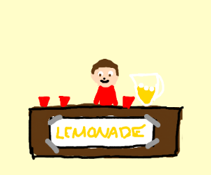 man in the lemonade stand
