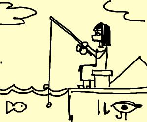 Cleopatra goes fishing