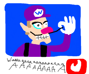 Waluigi steals Wario's W and goes on Tinder