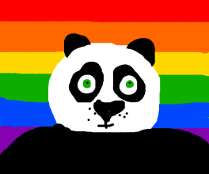 Kung Fu Panda with pride flag