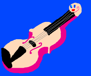 Kirby is a violin