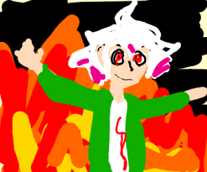 Dangan Ronpa guy with swirly hair