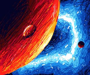 Jupiter and a moon