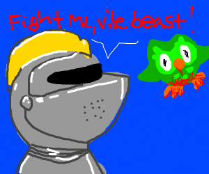 knight dislikes duolingo owl