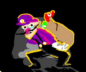 Waluigi kidnaps hats
