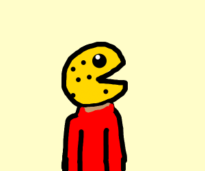 dude with a pacman head and blackheads