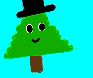 Tree wearing a Hat
