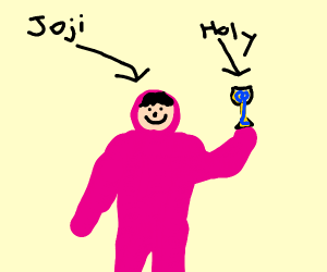 Pink Guy finds the Holy Grail