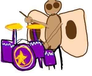 A moth drummer.