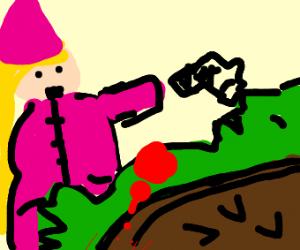 princess peach shot bowser for violating her