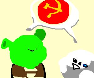 Sans and Shrek talk about communism