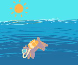 scuba diving bear