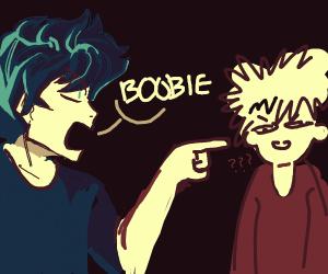 Deku calling the B word to Bakugou