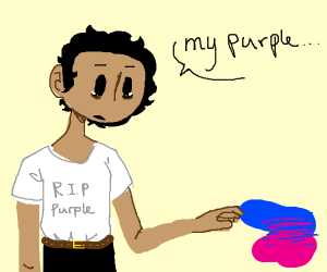 DON'T YOU DARE USE PURPLE IN THIS PANEL