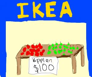 Ikea Apples aren't cheap