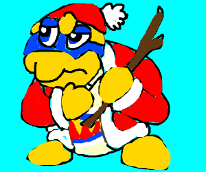 King Dedede with a stick