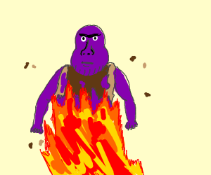 Thanos Burnt his Clothes Off