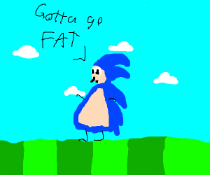 Sonic really let himself go