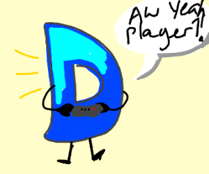 Drawception D is player 1