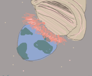 Saturn has a massive crush on earth