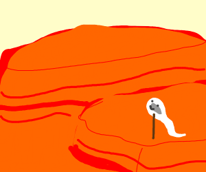 A sperm hiking the grand canyon