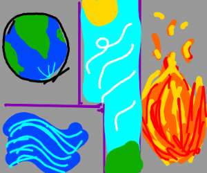 Water. Earth. Fire. Air.
