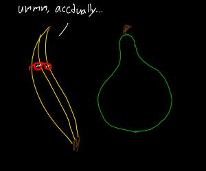 Bananas are smarter than pears