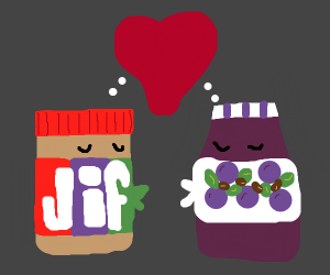 peanut butter and jelly in love