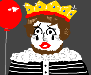 king is a mime