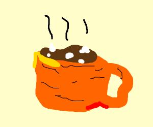 Wrinkled hotcocoa mug