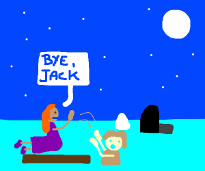 Rose lets jack die (titanic)