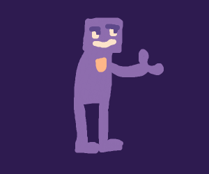 scare purple murder man